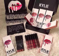 Wholesale make lipstick kit - High quality! Latest 41 colors KYLIE JENNER LIP KIT liner Kylie Lipliner pencil Velvetine Liquid Matte Lipstick Makeup Lip Gloss Make Up