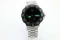 Wholesale Deal Watch - TAG Grand Prix Event Men's wristwatch Black Rotatable Bezel Green Arabian 44mm Big Dial Silver Stainless Steel Strap Hot Deal Men's Watch