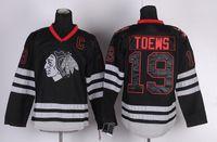 jerseys china venda por atacado-2016 novo Chicago Blackhawks Jerseys 19 Jonathan Toews Hóquei No Gelo Jersey preto costurado com logotipo do nome do jogador barato China Swearsport Jerseys