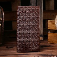 Wholesale Coffee Holder Bags - Genuine leather 2016 Popular Men wallet new arrival vintage cards holder purse portable money bag coffee color free shipping