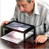 page magnifier light - 1 Foldable Desk A4 Full Page Large Magnifier X Foldable Magnifying Glass with LED Lights for Reading