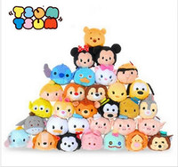 Wholesale Mini Plush Toys - 9CM Mini Lovely TSUM Plush Toys Animal Stuffed Doll Pendant Keychain Baby Children Alice Cinderalla Snow Toys XMAS Gifts KKA2238