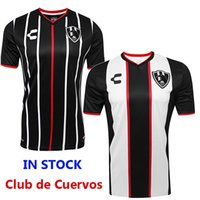 Wholesale Free Packet - Free e-packet 2017 2018 mexico Club de Cuervos soccer jerseys 17 18 Liga MX club de Ravens Camiseta football shirt