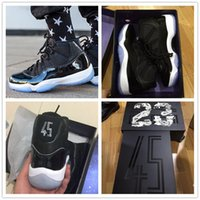 "Wholesale High Quality Cow Leather - With Box + Number ""23"" Retro 11 Space Jam 45 Mens Basketball Shoes Men Women High Quality Airs 11s Athletic Sport Sneakers For Sale"