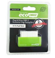 Wholesale Fuel Saver Cars - Green EcoOBD2 Economy Chip Tuning Box OBD Car Fuel Saver Eco OBD2 for Benzine Cars Fuel Saving 15%