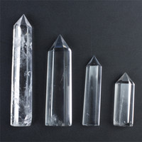 Wholesale Clear Quartz Healing Point - FREE SHIPPING HJT 4pcs wholesale hot sell New natural clear crystal point quartz points reiki healing point Cure chakra stone