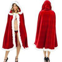 traje de cosplay vermelho venda por atacado-2018 Costumes Red Riding Hood Cape Dia das Bruxas das mulheres novas do presente de Natal Brasão Fairytale Princess Natal Cloak Cosplay livra o navio