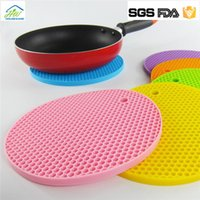 Wholesale 2017 Newest Table Mats Non Slip Heat Resistant Mat Coaster Cushion Placemat Pot Holder Table Silicone Mat Kitchen Accessories DHgate
