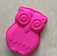 Wholesale Silicone Owl Soap Molds - New big owl Cake Mold Flexible Silicone Soap Mold For Handmade Soap Candle Candy bakeware baking moulds kitchen tools ice molds
