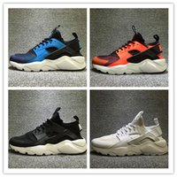 Wholesale breathe design - 2017 New Design Air Huarache 4 All Red Mesh Huraches Sneakers Ultra Breathe Men And Women Huaraches Running Shoes Size 36-46