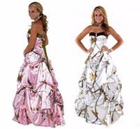 satılık gövde elbiseleri toptan satış-Sıcak Satış A-Line Sevgiliye Draped Boncuk Geri Lace Up Saten Camo Gelinlik Basit Korse Gelinlik Ucuz Vestidos De Novia