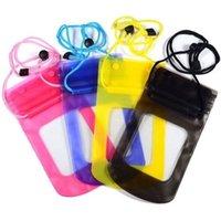 ingrosso sacchetto impermeabile per il telefono-Custodia impermeabile universale del telefono impermeabile del sacchetto del sacchetto Copertura subacquea asciutta della cassa per iPhone6 più 4 5 Samsung S4 S5 Nota 3 fotocamera HTC Lg DHL libero