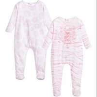 Wholesale Boys Christmas Outfit 2t - retail High Quality Spring   Summer Baby Romper Long Sleeved Crew Newborn Kids Boy Infant Cotton Pink Print Jumpsuit Outfits 0-24M