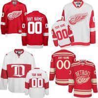 Wholesale Custom Hockey Jerseys Cheap - Custom Detroit Red Wings Jerseys Authentic personalized Cheap Hockey Jerseys Any Number & Name Embroidery Logos size S-3XL