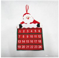 Wholesale Christmas Countdown - Santa Claus Father Christmas Advent Calendar Countdown Xmas Decor Fabric Pockets Christmas Decoration Supplies for HOME