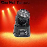 Led Moving Head DMX lavare 7x12w Mini Musica Stagione Luce Stage Natale Party Lumiere Laser Show Disco Dj Dmx Rgbw Light