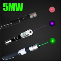 Wholesale Blue Green Laser Pointers - 5mW Laser Pointer Pen 532nm Green Red Blue light Laser Pen Beam For SOS Mounting Night Hunting teaching