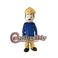 Wholesale Mascot Costume Fireman - Wholesale-Fancy Fireman Mascot Costume Inspired by Fireman Sam Cartoon Mascot Costume