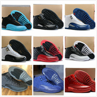 Wholesale Zapatillas Basket - [With Box]Air 12 Basketball Shoes Men Women Gs White Grey Masters Authentic Replicas 12s Zapatillas Sport Taxi Playoffs Sneake