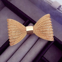 Wholesale Sweater Brooches Korean - 1pcs lot Simple and elegant classic bow brooch Korean female corsage pin collar sweater jewelry accessories decorative brooches