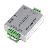 Wholesale Repeater Controllers - Led RGB Amplifier Controller Input dc 5v 12V 24V 24A Signal Repeater 120w 288w 576W for 3528  5050 RGB Led Strip Aluminum Box