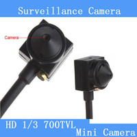 Wholesale Mini Camera Cctv Audio - surveillance cameras Cone Hidden 3.7mm 5MP 700TVL Camera Audio Wired Camera Mini CCTV Security Surveilance Hidden pinhole Camera