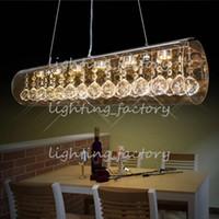 ingrosso palle rosa appesi per matrimoni-LED K9 cristallo lampada da tavolo ristorante soggiorno lampada lampadario pendente Droplight luce illuminazione italiana bar contatore design