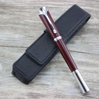nachfüllungen großhandel-Senden refill 3 STÜCKE / Luxus Mahagoni farbe Roller Kugelschreiber schreibwaren schooloffice liefert metall schreibfeder