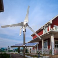 Wholesale Turbines Generators - Wholesale-600W max Wind Turbine  Generator  windmill for House using. Combine with wind solar hybrid controller(LCD display).