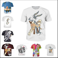 Wholesale Women Clothes Bunnies - Fashion Clothing Bugs Bunny Lola Bunny Jersey Spanking Casual T-Shirt Women Men 3D T-shirt Harajuku t shirt Summer Style Tops 2017.8.13.011