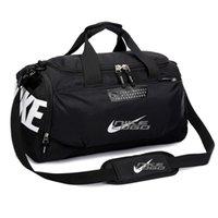 Wholesale Boys Luggage Bags - Waterproof Oxford Gym Yoga Hand Luggage Shoulder Bag Sports Training Shoe Bags Basketball Bag Handbags Outdoor Travel Duffel Bag Tote