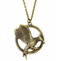 Wholesale handmade jewelry for sale - Vintage Hot Sale Hunger Game Birds Charm Pendant Necklace For Women&Men Handmade Jewelry Making DIY
