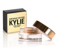 Wholesale Dora Wear - 2016 NEW Arrival Kylie Metal Gold edition kylie birthday eyebrow eyeshadow cream coppe rRose Gold 2 COLORS from dora