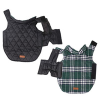 Wholesale Xxl Dog Jumpsuits - Dogs Jackets Pet Jumpsuit Waterproof Dual Sides Usable Lattice Pattern Design Durable Air Peameable Dogs Clothes 7 Sizes Available--XL XXL