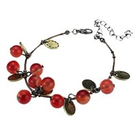 Wholesale Sweet Cherry Bracelet - Bracelets & Bangles for Women Fashion Factory Wholesales Vintage Sweet Cherry Beautiful Bracelet Jewelry Accessories Charm Bracelets