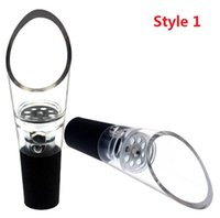 Wholesale Wine Filter Wholesaler - Silicone Wine Aerators Wine Decanting Aerating Filter Aerator Pourers Bar tools wine pourers with OPP packaging 4061-4062