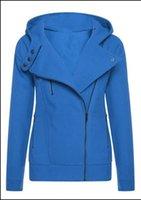Wholesale Short Sleeved Beige Jackets - Sisjuly solid color hooded jacket long sleeve women's hoodies sweatshirts black zipper autumn winter outerwear coats fashion