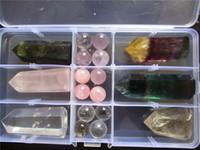 Wholesale Green Fluorite Crystal - 350G+ Rutilated,Fluorite,Labradorite,Quartz Crystal Wand Point And Ball Healing
