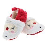 Wholesale Baby Step Shoes - Baby Christmas shoes White Christmas shoes non - slip learning step shoes baby shoes baby shoes