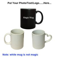 Venda por atacado - Drop shipping DIY Photo Magic Color Changing Coffee Mug personaliza sua foto no melhor presente para amigos do Natal