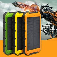 Wholesale Solar Battery Charger Dc - New 18000mAh DC 5V 1A 5V 2A Solar Charger Waterproof Solar Phone External Battery Dual USB Power Bank