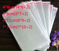 Wholesale Self Seal Adhesive Plastic Bag - 4*8cm 5*9cm 6*11cm 7*12cm 1000pcs lot Flap Seal Self Adhesive Seal Poly Bag Opp Packaging Clear Plastic Bag wholesale free shipping