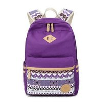 Wholesale College Bags Trend - School Bags Girls Backpack Trend Edition Fashion College Students Outdoor Wind Canvas Bag. Printing Design. Large Capacity, Multi Pocket.