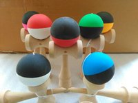 Wholesale jumbo games for sale - Group buy 50piece cm jumbo Rubber paint Game ball skills with a sword jade jade sword ball sword flexible paint kendama ball
