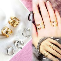Wholesale Open Top Finger Rings - Chic 3 Pcs Top Of Finger Over The Midi Tip Finger Above The Knuckle Adjustable Open Ring Set Gold Silver Jewelry RING-0164