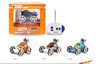 Wholesale Electric Child Car - Boys 2152 Remote Control 360 Degrees Roll RC Car Children Electric Car Toy Original Create Toys 2152B 27MHz 2CH Mini RC Car