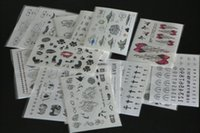 Wholesale Tattoo Skin Stickers - 20Pcs 9.5*14.5cm Skin art waterproof removeable transfer tattoo stickers Temporary Tattoos for decoration