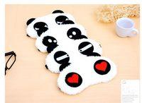 Wholesale Sleep Mask Cartoon Eyes - Free DHL Cotton Panda Goggles Sleep Mask Shading Moisture Remove Dark Circles Cartoon Eye goggles Improve Sleep Quality Moist Eyes