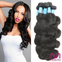Wholesale Human Hair Weave Bleachable - Brazilian Hair Human Hair Weaves Extensions Malaysian Indian Peruvian Hair Bundles Dyeable Bleachable Body Wave MOSTO Top Quality