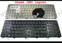 laptop hp pavilhão venda por atacado-Teclado novo portátil para HP Pavilion DV7-6000 DV7-6100 DV7-6200 com moldura preta grego GK (mesmo que a versão dos EUA) - V122503AS1